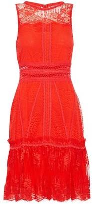 Jonathan Simkhai Ruffle-Trimmed Lace Mini Dress