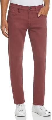 Mavi Jeans Zach Straight Fit Five-Pocket Chinos in Burgundy