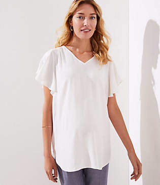 LOFT Maternity Flutter Top