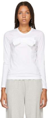 Comme des Garcons White Bow T-Shirt
