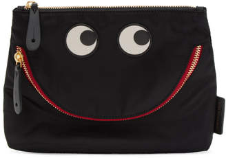 Anya Hindmarch Black Happy Eyes Pouch