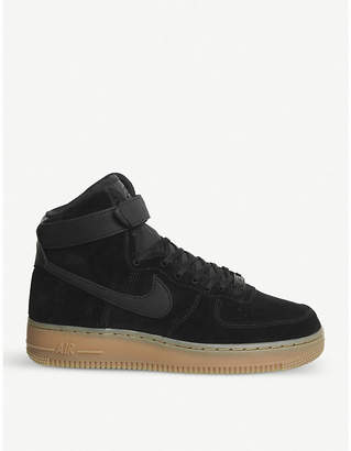 Nike Force 1 suede high-top trainers