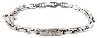 18K Diamond Plaque Link Bracelet