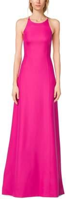 Michael Kors Silk-Crepe Halter Gown