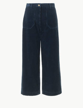 Marks and Spencer Pure Cotton Corduroy Cropped Trousers