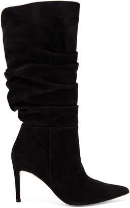 Alexandre Birman Lucy Suede Boots in Black   FWRD