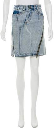 3.1 Phillip Lim Denim Knee-Length Skirt