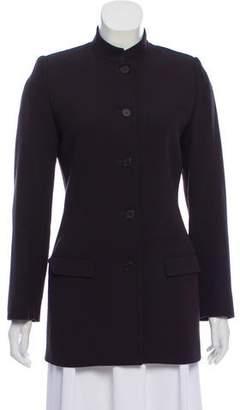 Calvin Klein Collection Wool Button-Up Blazer