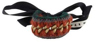 Marni Knitted Wool & Chain Wrap Bracelet