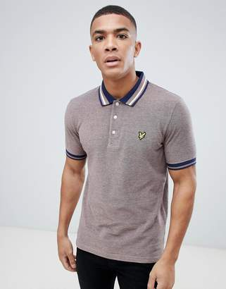 Lyle & Scott oxford weave polo shirt in burgundy