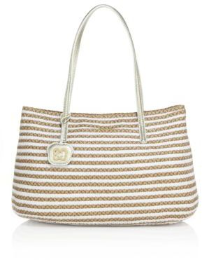 Eric Javits Dame Brooke Woven Straw & Textile Tote $350 thestylecure.com