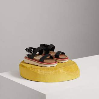 Burberry Childrens Leather and House Check Sandals