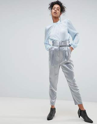 Asos Tailored Pant With Paperbag Waist