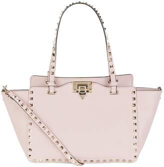 Valentino Small Leather Rockstud Tote Bag