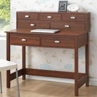 Baxton Studio Wholesale Interiors McKinley Writing Desk with Hutch Wholesale Interiors