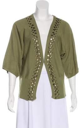 Joseph Abboud Embellished Knit Cardigan