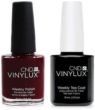CND Creative Nail Design Vinylux Bloodline Nail Polish & Top Coat (Two Items), 0.5-oz, from Purebeauty Salon & Spa