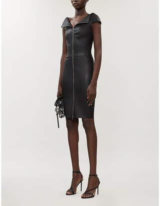 Jitrois Eve zip-front leather mini dress