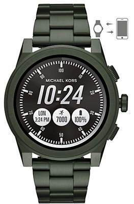 Michael Kors Grayson Olive IP Bracelet Touchscreen Smartwatch
