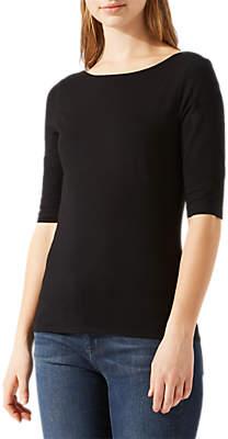 Jigsaw Double Front Ballet Neck T-Shirt