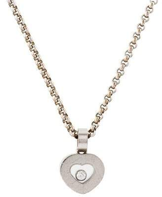 Chopard 18K Diamond Icons Heart Pendant Necklace