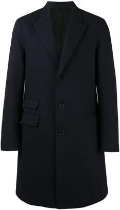 Neil Barrett raw cut Crombie coat