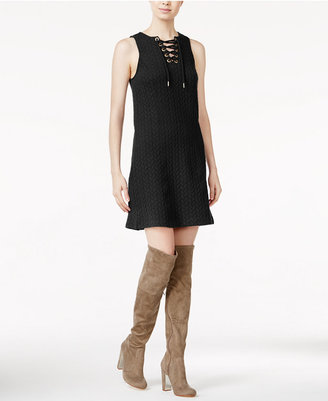 kensie Quilted Lace-Up Dress $79 thestylecure.com