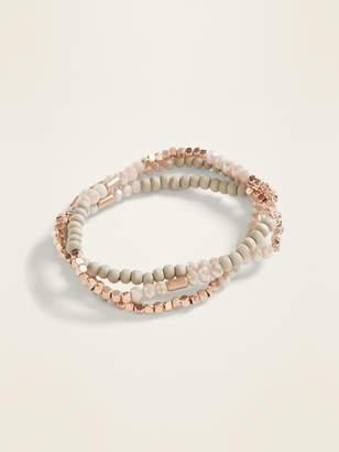 Old Navy Seed-Bead Three-Strand Stretch Bracelets