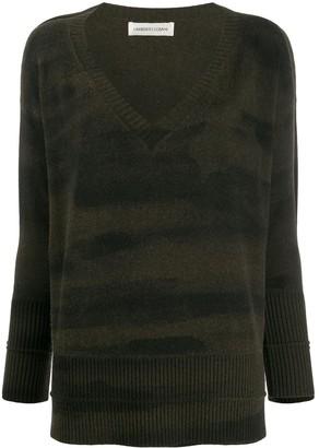 Lamberto Losani camouflage wool blend jumper