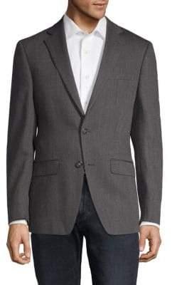 Calvin Klein Herringbone Slim-Fit Wool Sportcoat