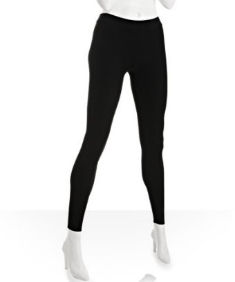 Romeo & Juliet Couture black stretch rib knit leggings