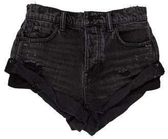 Alexander Wang Denim Mid-Rise Shorts