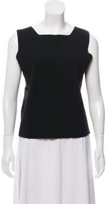 Loro Piana Sleeveless Cashmere Top Black Sleeveless Cashmere Top