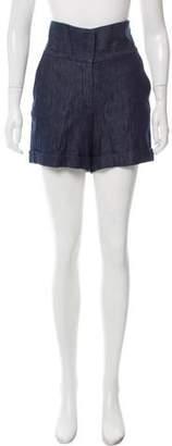 Sid Neigum Laser-Cut Knee-Length Skirt