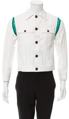 Ann Demeulemeester Contrast Convertible Jacket