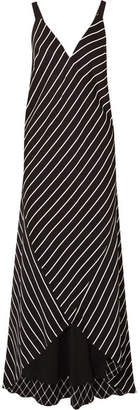 Haider Ackermann Striped Satin Maxi Dress - Black