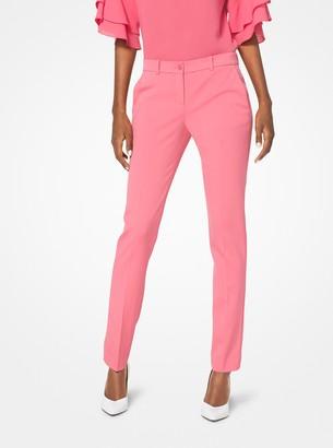Michael Kors Samantha Stretch Wool-Gabardine Pants
