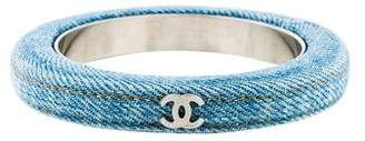 Chanel CC Denim Bangle