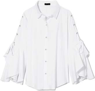 Vince Camuto Laced Statement-sleeve Shirt