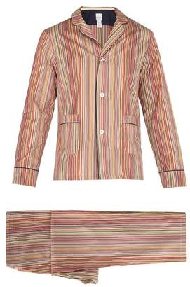 Paul Smith Signature Stripe Cotton Pyjama Set - Mens - Multi