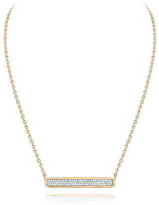 Walters Faith Carrington 18K Two Tone Diamond East-West Id Bar Pendant