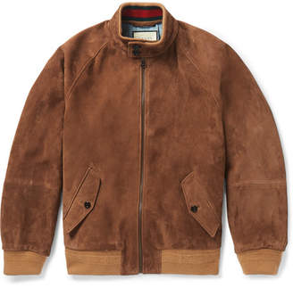 Gucci Suede Bomber Jacket - Tan