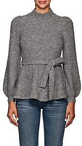 Co Women's Cashmere-Blend Belted A-Line Sweater - Gray