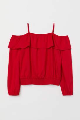 H&M Open-shoulder Blouse - Red