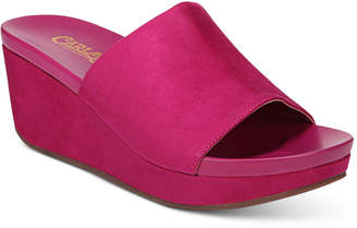 Carlos by Carlos Santana Delphina Wedge Slide Sandals Women's Shoes
