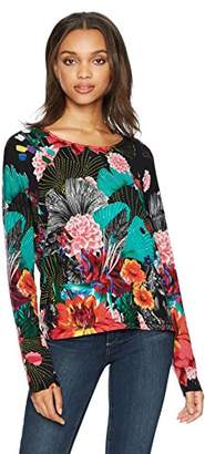 Desigual Women's Hawai Woman Flat Knitted Thin Gauge Pullover