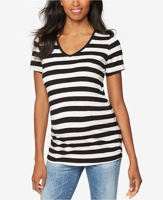 A Pea In The Pod Maternity Striped V-Neck Tee $45 thestylecure.com