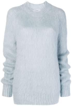 Jil Sander fuzzy knit sweater