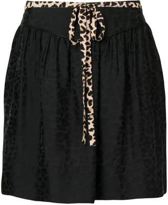 Zadig & Voltaire Zadig&Voltaire leopard print mini skirt