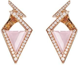 Stephen Webster 'Lady Stardust' diamond opal 18k rose gold geometric earrings